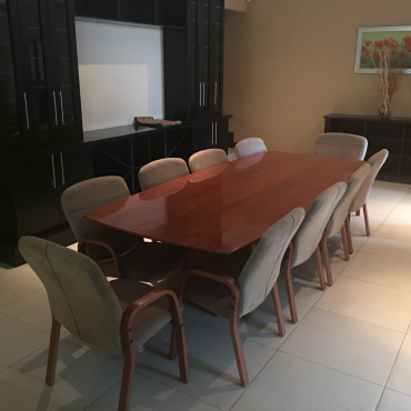 Solid oak 10 seater dining room suite randburg for Dining room tables johannesburg
