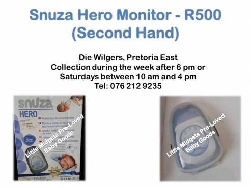 second hand snuza hero monitor please call after 5 pm during the week pretoria east baby. Black Bedroom Furniture Sets. Home Design Ideas
