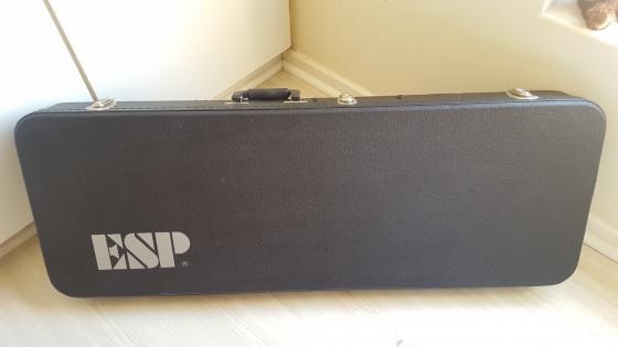 ESP LTD Deluxe EC-1000 Vintage Black Guitar + Original ESP Hard Case + 100W Full Valve Amp & Cables