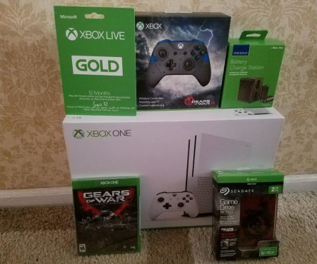 Xbox One S 2TB White Console Bundle.