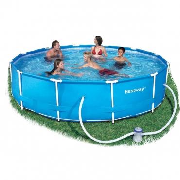 Bestway 6 4kl steel pro frame pool set 366cm x 76cm for Bestway pools for sale