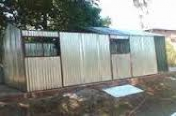 Steel storage zozo huts pretoria north steel garden sheds for Storage huts for garden