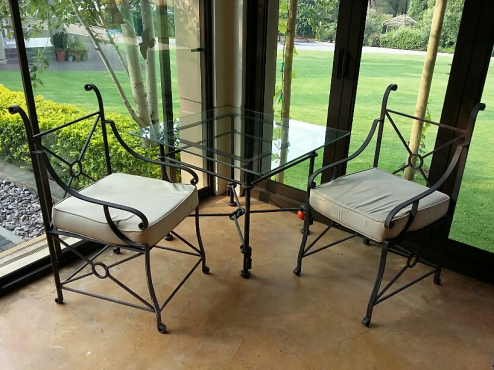cast iron table and chairs pretoria east garden