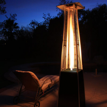 Patio Pyramid Gas Heater, Dancing Flame Patio Heater