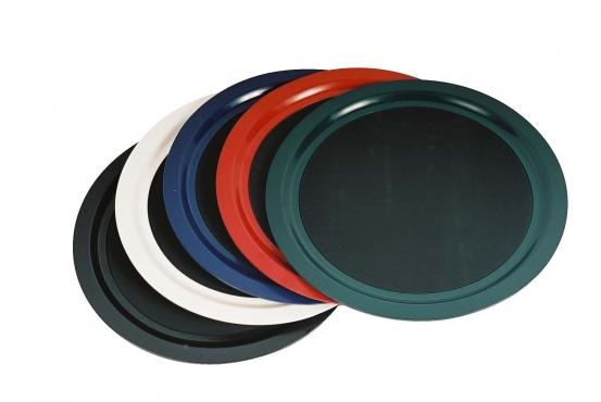Tuff Trays round tray Black (non-slip)