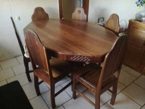 Namibian Dolf Wood Dining Room Set