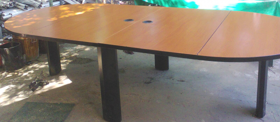 CHERRY WOOD OFFICE FURNITURE - used
