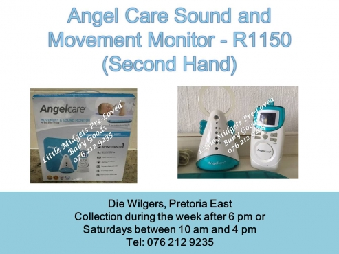 second hand angel care sound and movement monitor please whats app after 5 pm during the week. Black Bedroom Furniture Sets. Home Design Ideas
