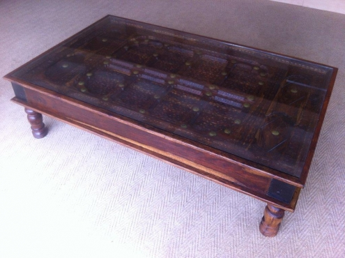 Antique Indian Wooden Door Coffee Table | Pretoria East | Antique Furniture  | 66189094 | Junk Mail Classifieds