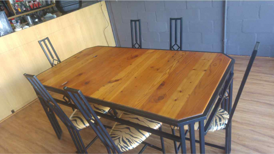 Dining Room Table And 6 Chairs Origin Pine Top