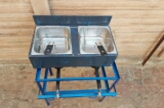 Gas chip fryer