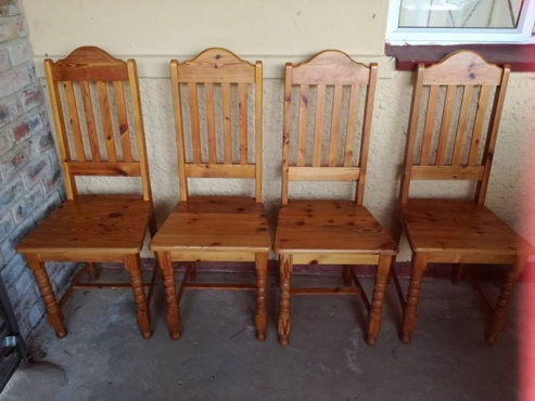 Oregon Pine Dining Room Chairs