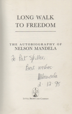 Long Walk to Freedom Autographed Copy
