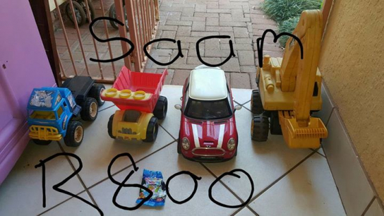 Toy vehicles for sale.