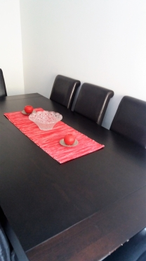 8 SEATER DINING TABLE WITH CHAIRS