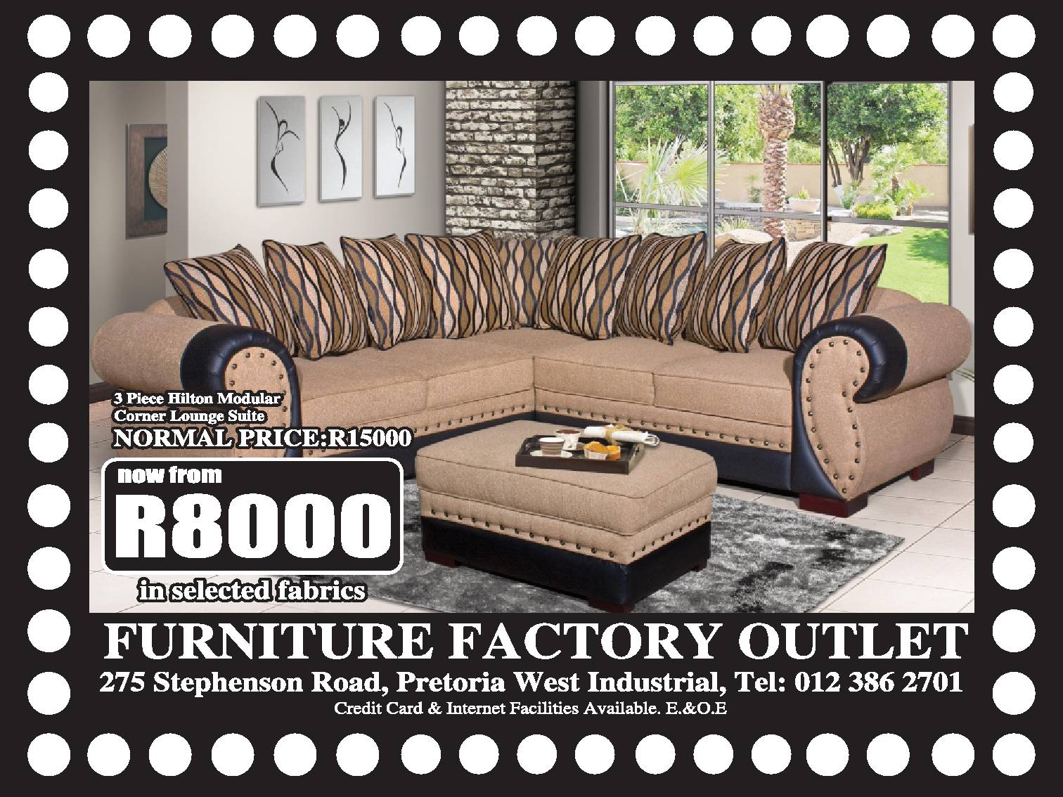 3pc victoria lounge suite lounge furniture 64110730 for Furniture factory outlet