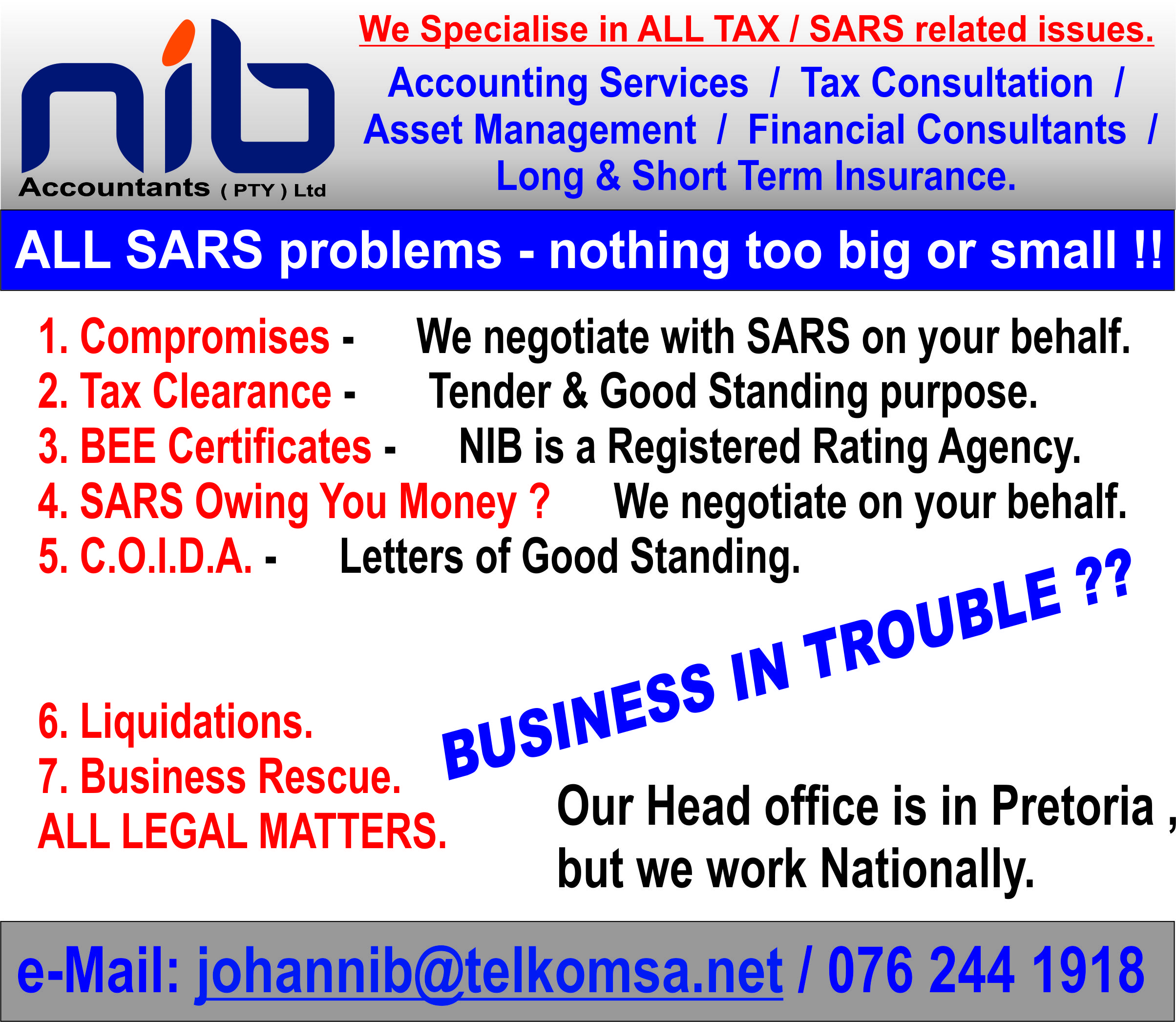 Pressure From Sars Or Creditors ?? Compromises, Tax