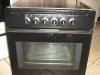 Black undercounter stove plus glass hob