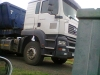 M.A.N truck with side tipper trailers