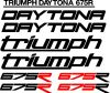 Daytona triumph 675R decals stickers graphics kits