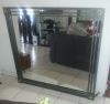 Large Bronze Metal Frame Mirror for sale