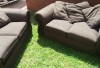 2x 2-seater couch set for sale