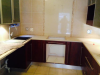 Mohagany Kitchen cupboards.