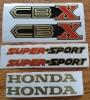 Honda CBX super sport decals s