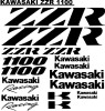 Kawasaki ZZR 1100 decals stick