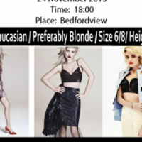 FH&BL is looking for Blonde Caucasian models
