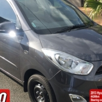 Hyundai I10 automatic 2013 1.25GLS 44200km Steering controls, telephone/Cell prep kit with mic, Airc