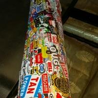 Peel & stick, car & bike stickers on a roll.