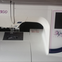 ELNA EXPERIENCE 8300 EMBROIDERY MACHINE AND EXTRAS