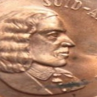South African 1967 Jan van Riebeeck 2 cent coin very rare .