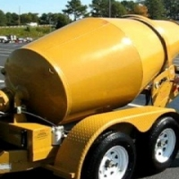 Tow behind mobile concrete mixer with Robin