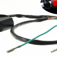 "Black Motorcycle Fog Light Switch 7/8"" Handlebar"