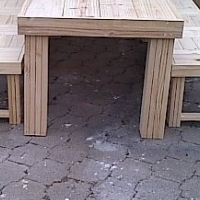 Patio table Chunky Farmhouse series 2400 Combo 1 - Raw