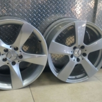"18"" ORIGINAL MERC E& C- CLASS COUPE MAGS WITH BRAND NEW TYRES"