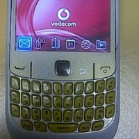White Blackberry 8520 Curve Smart Phone