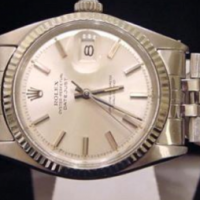 ROLEX OYSTER PERPETUAL STAINLESS STEEL 18K WHITE GOLD BEZEL