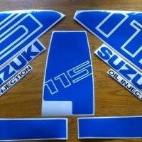 DT 115 Suzuki decals stickers graphics sets