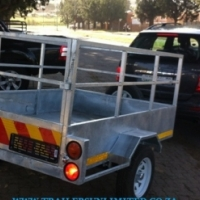 HOT DIPPED GALVANIZED TRAILERS.
