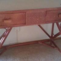 Cane 2-Drawer Dresser/Desk
