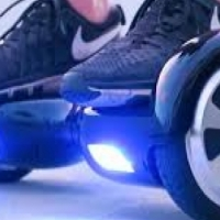 10 INCH OUTDOOR SMART SELF BALANCING SCOOTER WITH BLUETOOTH SPEAKER - FIRE