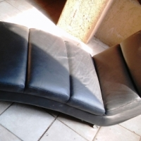 Black Leather Recliner Seat