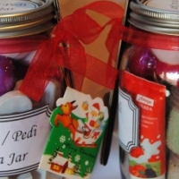 Mani/Pedi in a Jar and Pamper in a Jar
