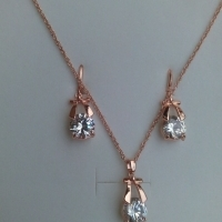 elegant rose gold jewellery set