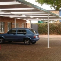 CARPORTS WITH CHROMADECK SHEETS OR GALVANISED IBR. ENCLOSED STOOPS OR VERANDAHS.