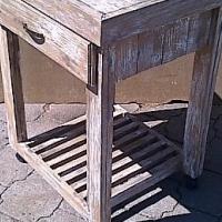 Kitchen Island Farmhouse series 690 with drawer and 1 shelf Glazed