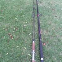spear guns fishing rods